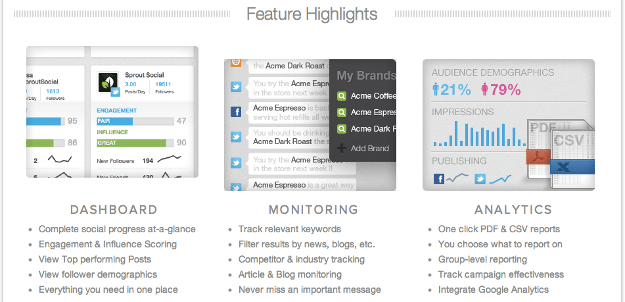 Product Features Page Highlights Before