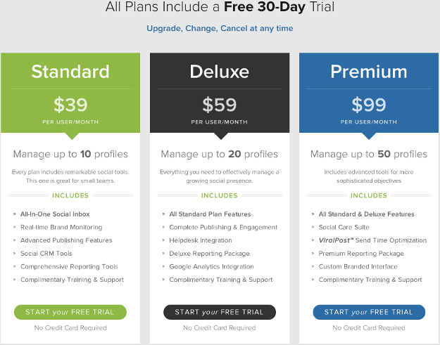 Pricing Page Before