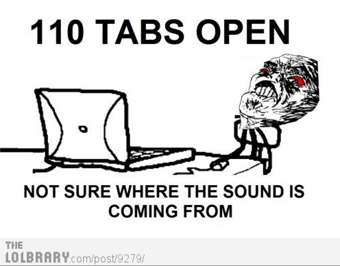 Behold: tabs, the root of all evil.