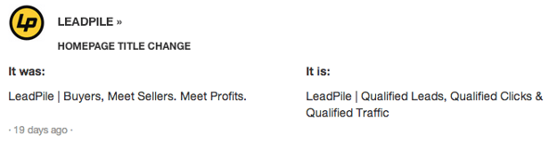 LeadPile moves to stronger keywords which are certain to improve their SEO performance