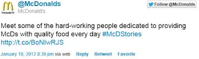 The beginning of the #McDStories disaster.