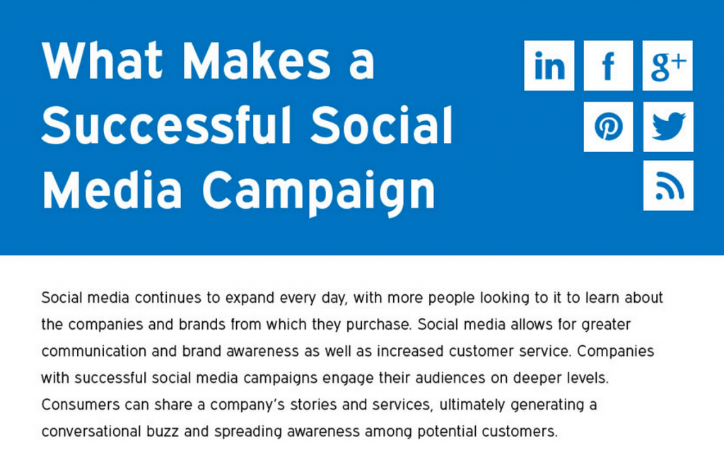 Click the image to learn how you can use social media to create a successful social media campaign.