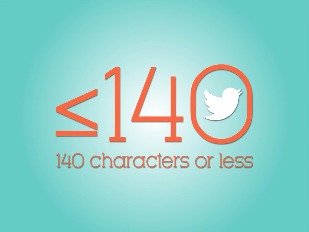 Twitter 140 characters or less