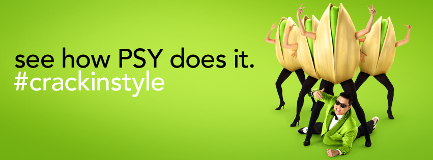 Wonderful Pistachios piggybacked off the song's success with an ad featuring Psy during the 2013 Super Bowl and coupled it with #CrackinStype. Twitter went nuts (pun intended).