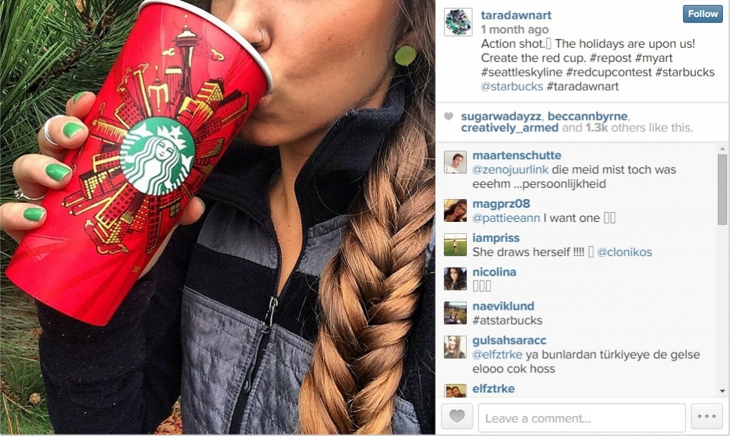 Starbucks Instagram Red Cup Contest