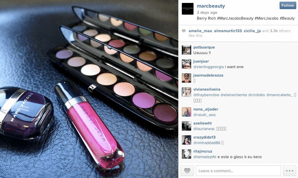 Marc Jacobs MarBeauty Instagram