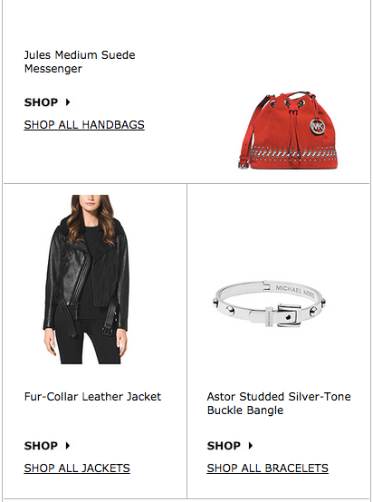 InstaKors Shopping Email
