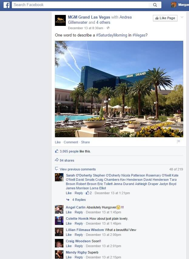 MGM Grand Social Media Best practices
