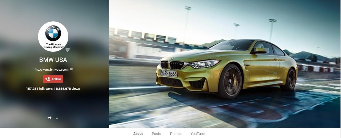 BMW Google+ Marketing Page