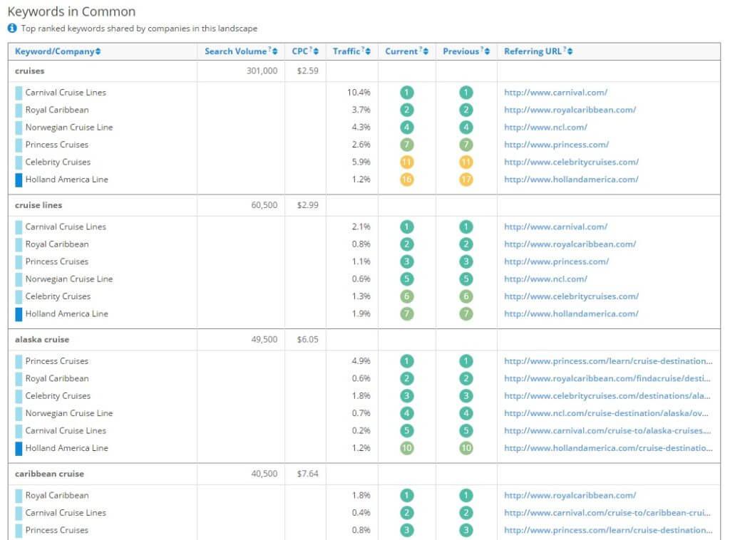 SEO Keyword Rankings Report
