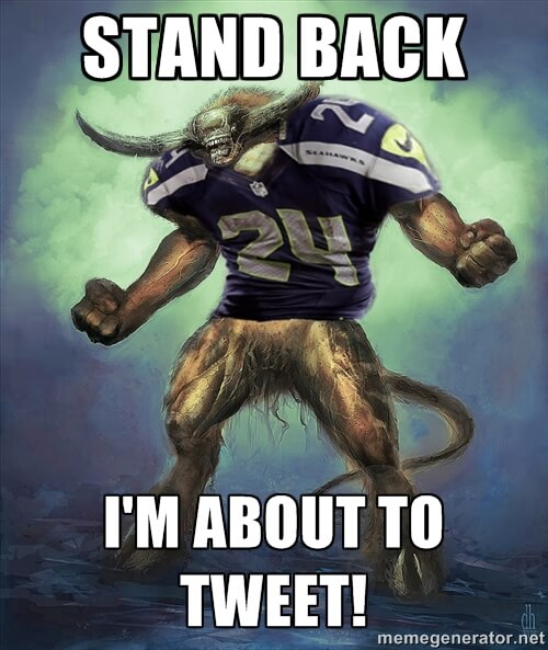 Super Bowl beast mode tweeting