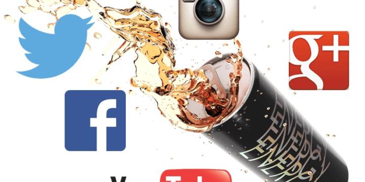 Energy drink social media engagement