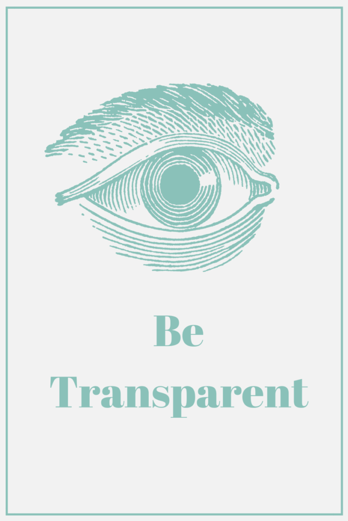 Collecting Personal Information Transparently