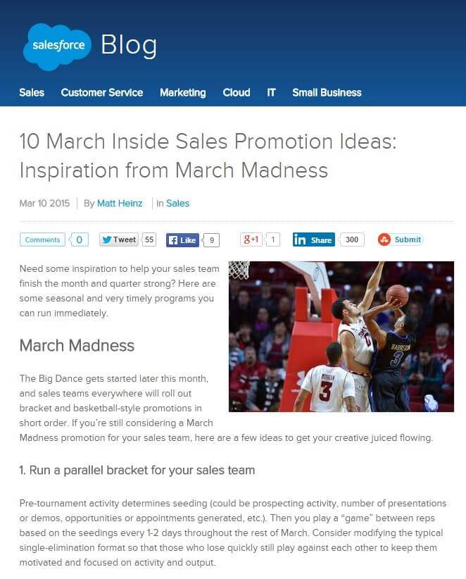 March Madness Blog Posts