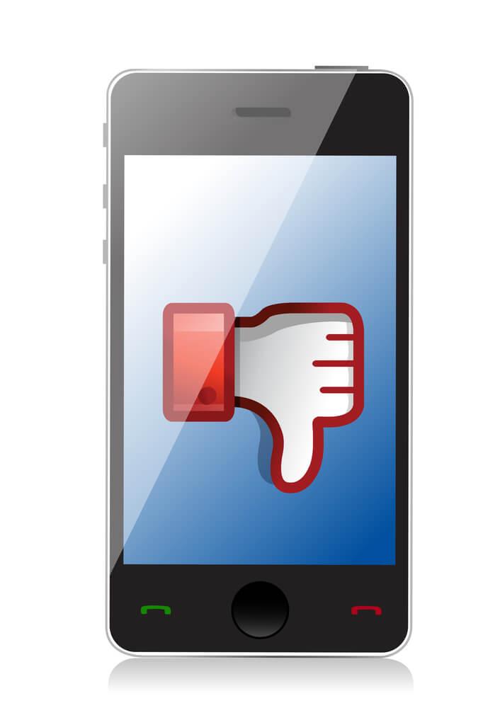 Non-responsive mobile website