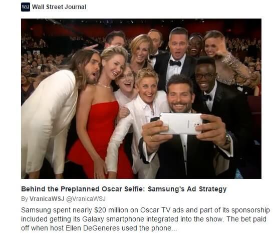Samsung Oscars Selfie