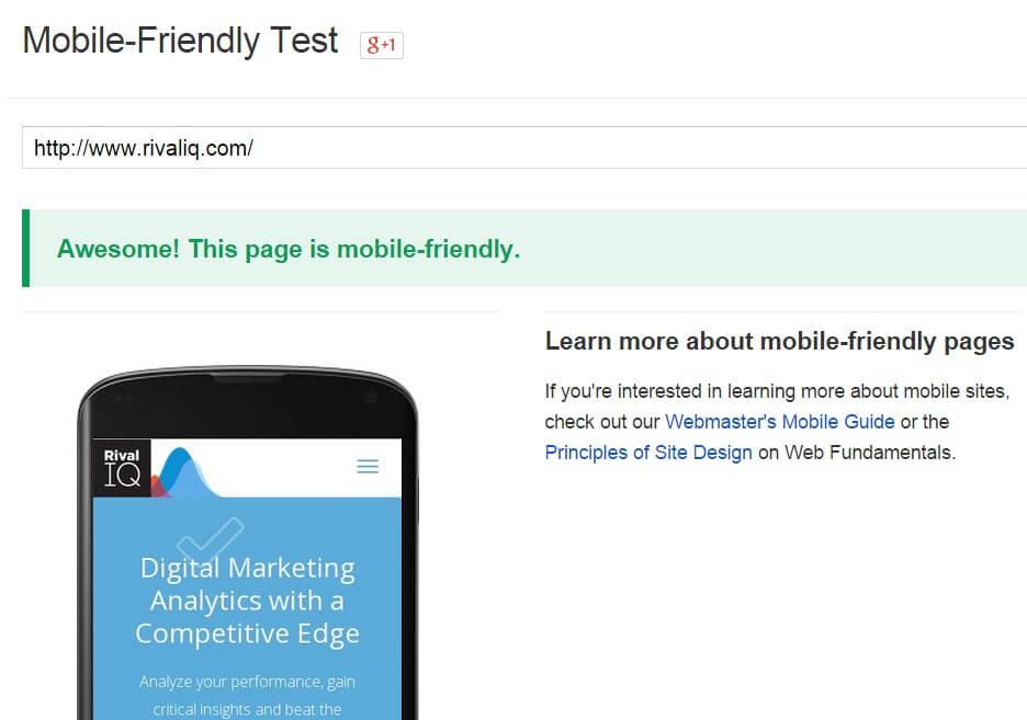 google mobile-friendly update website test
