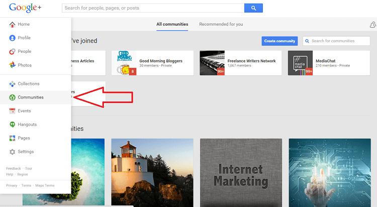 Google+ Marketing - Communities