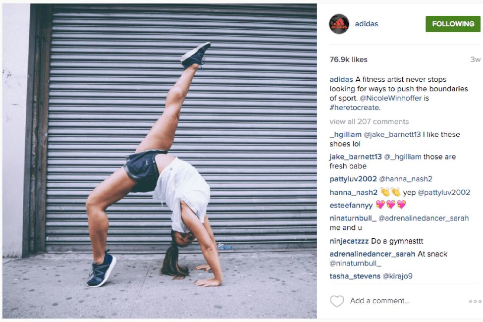 adidas instagram social media lessons