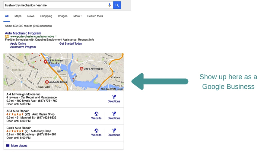 Get found in search with business pages