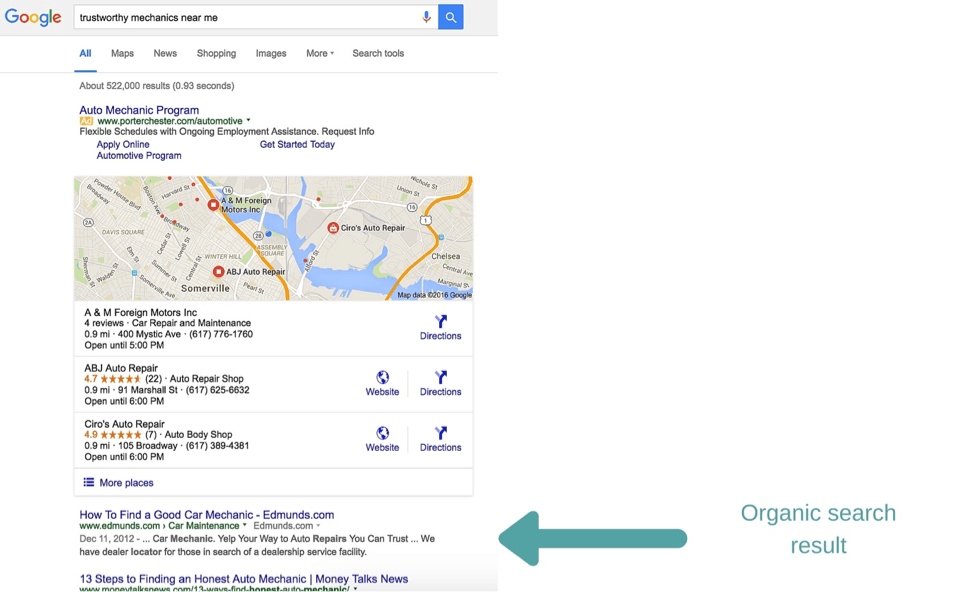 Get found in search in organic search results