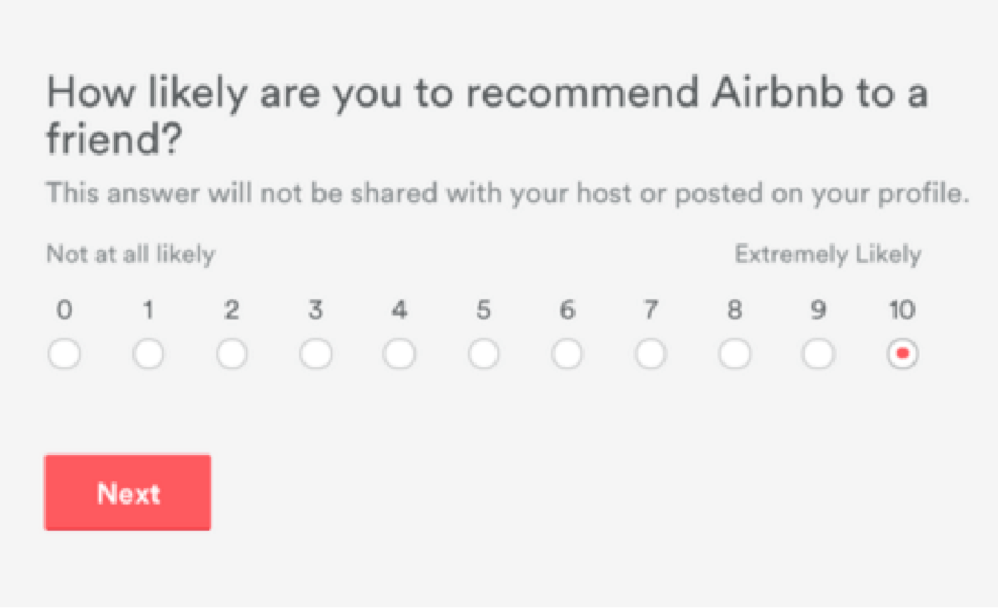 How Airbnb asks for customer reviews