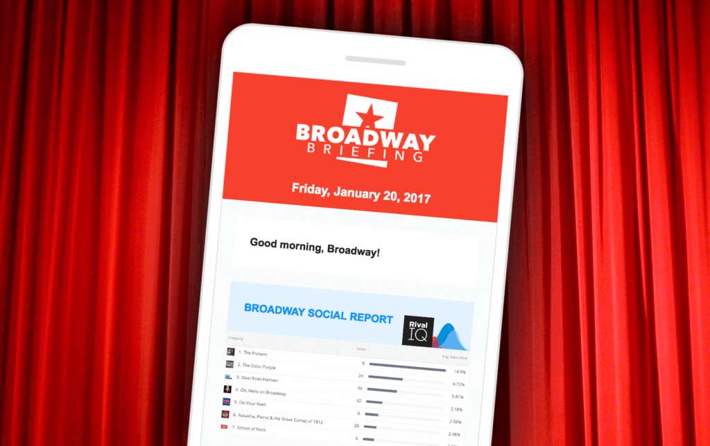 Broadway Briefing Social Media Report Preview