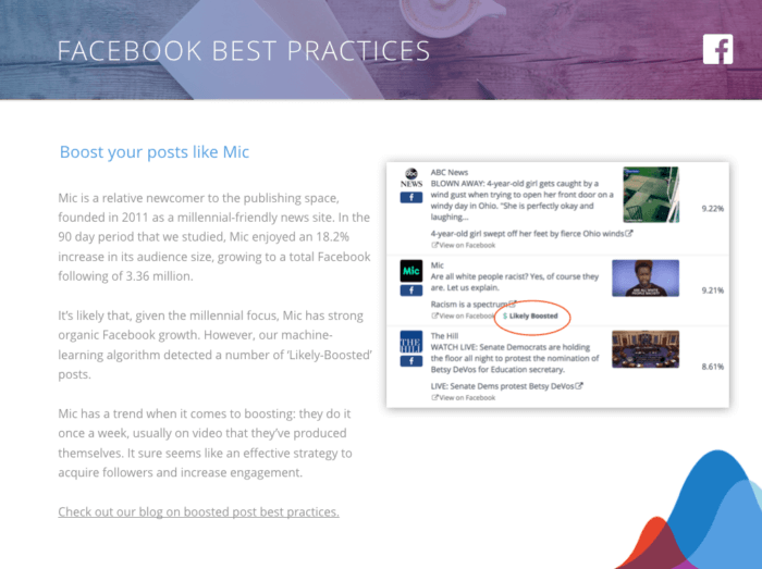 Facebook Best Practices for the News & Media Industry: Boost your posts like Mic