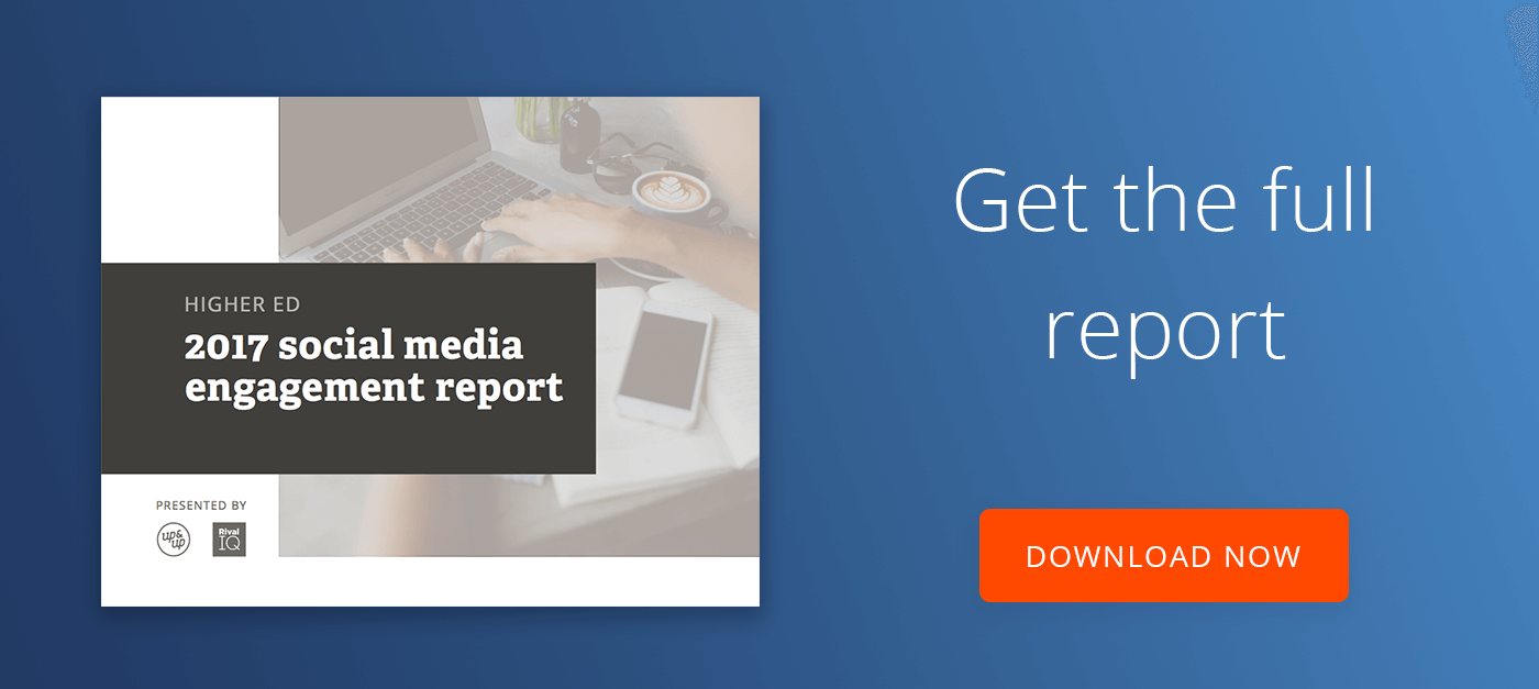 2017 Higher Ed Social Media Study Report Download Button