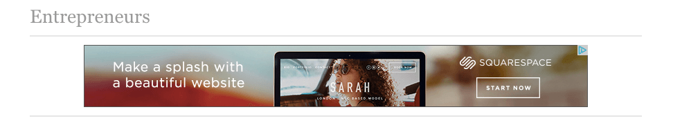 Squarespace runs banner ads on the Forbes website