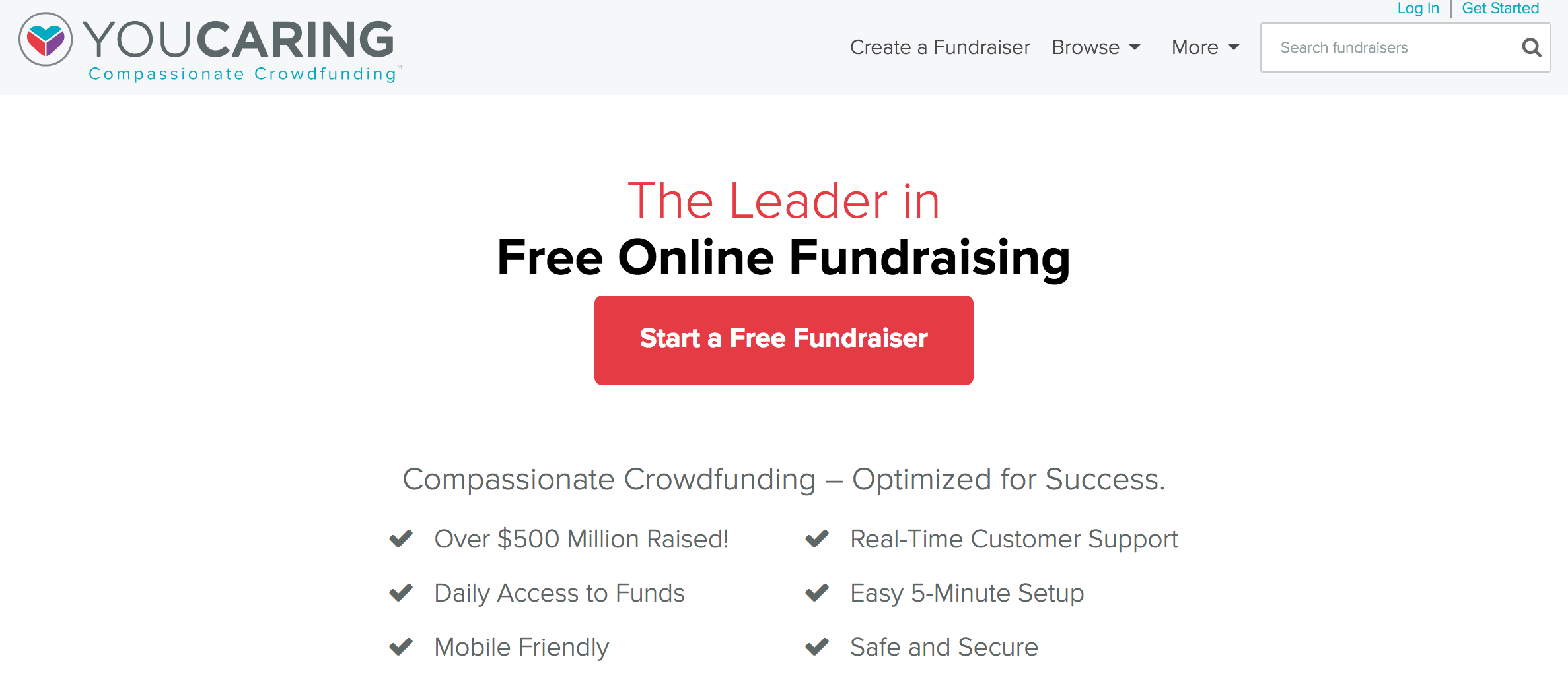 YouCaring online crowdfunding and social fundraising