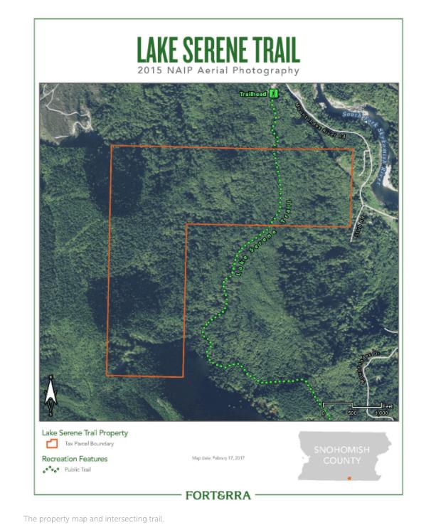 Lake Serene Trail 2015 NAIP Aerial Map