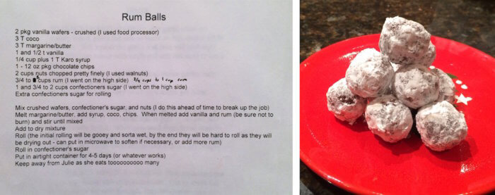 rumball recipe from Julie