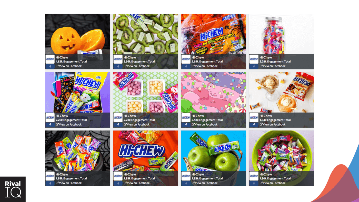 hi-chew top facebook posts in 2017