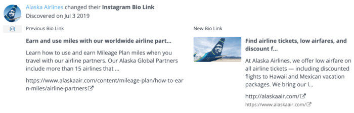 Track Instagram bio changes can be helpful when reviewing social media strategy