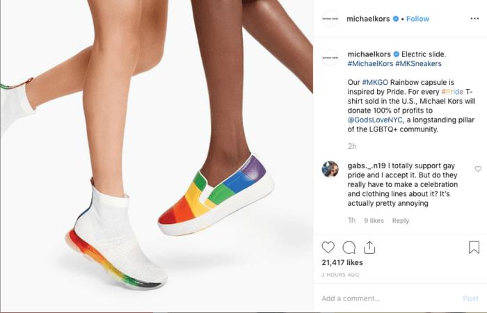 Pride Instagram post from Michael Kors