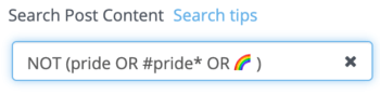 Search criteria for not-Pride posts