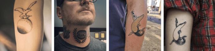 Fernet fans with Fernet tattoos.