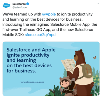 b2b brand salesforce shows off custom graphics in this tweet