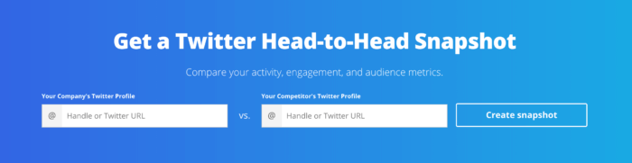 Twitter head to head snapshot