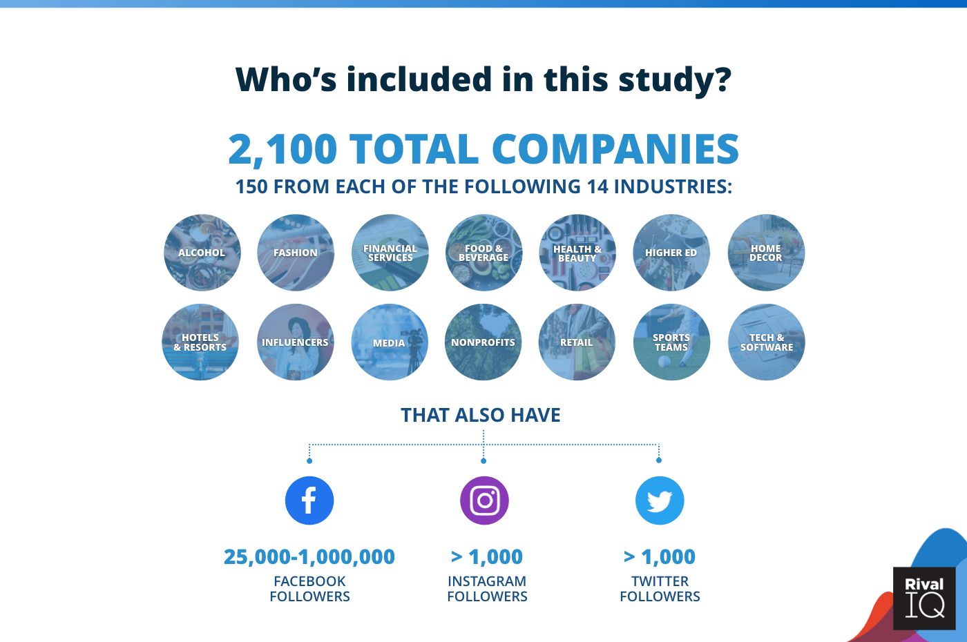The makeup of the 2020 Social Media Industry Benchmark Report