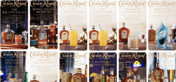Crown Royal's Pinterest Marketing boards