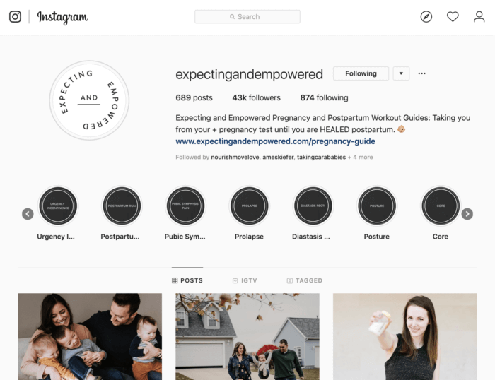 Engaged and Empowered's Instagram profile is full of free resources to increase brand trust