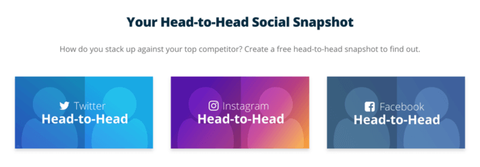 Head-to-head social media benchmark reports