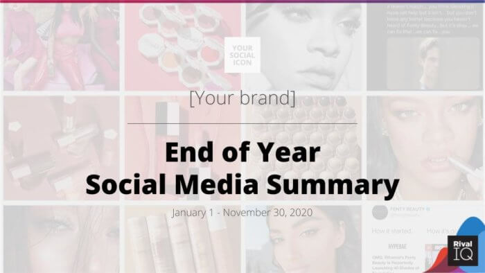 End of year social media template cover page